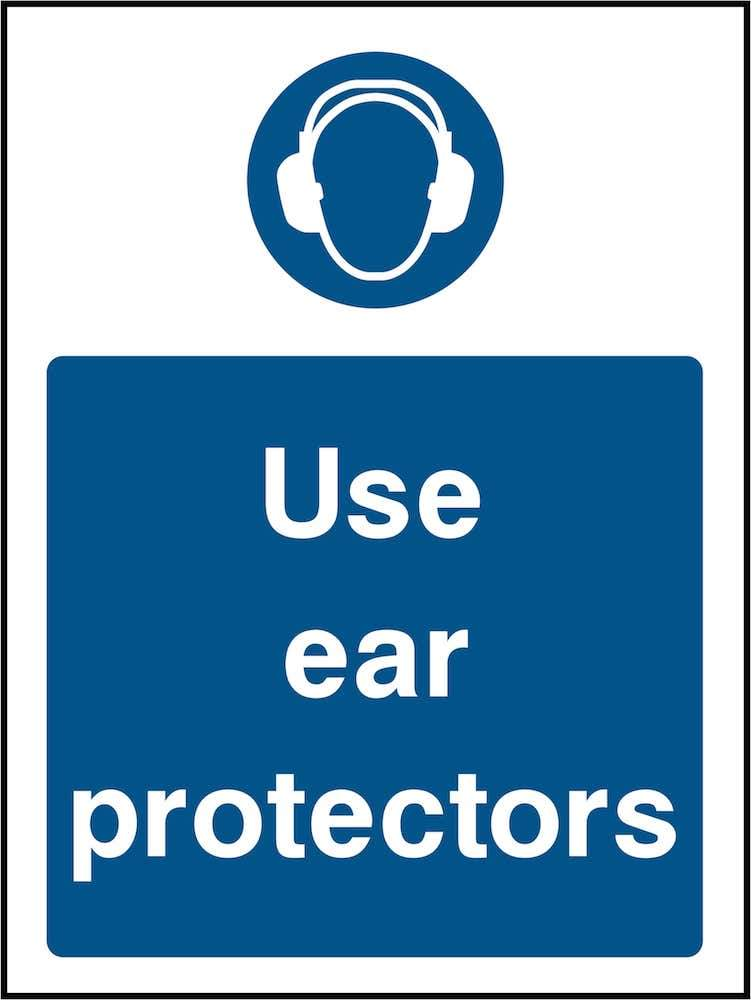 PPE Sign: Use Ear Protectors (Image) | Elevate Signs