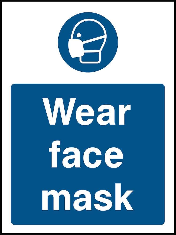 PPE Sign: Wear Face Mask (Image) | Elevate Signs