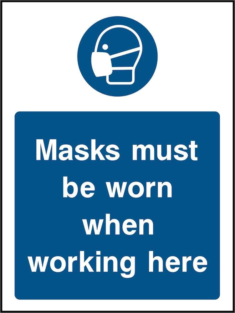 PPE Sign: Masks Must Be Worn (Image) | Elevate Signs