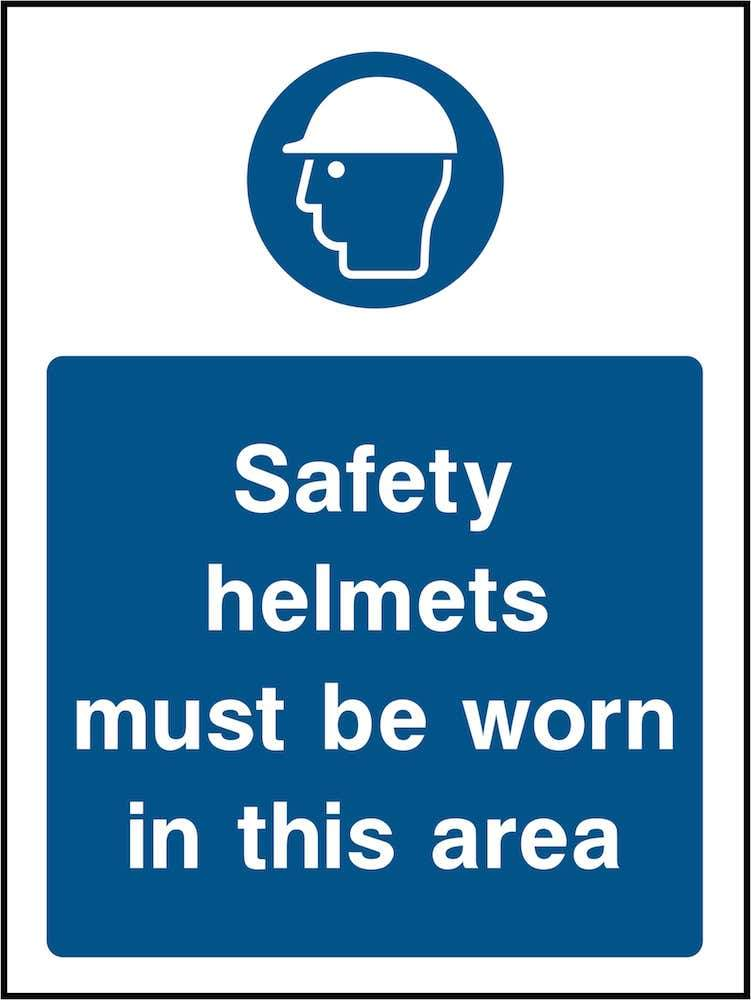 PPE Sign: Safety Helmets Area (Image) | Elevate Signs