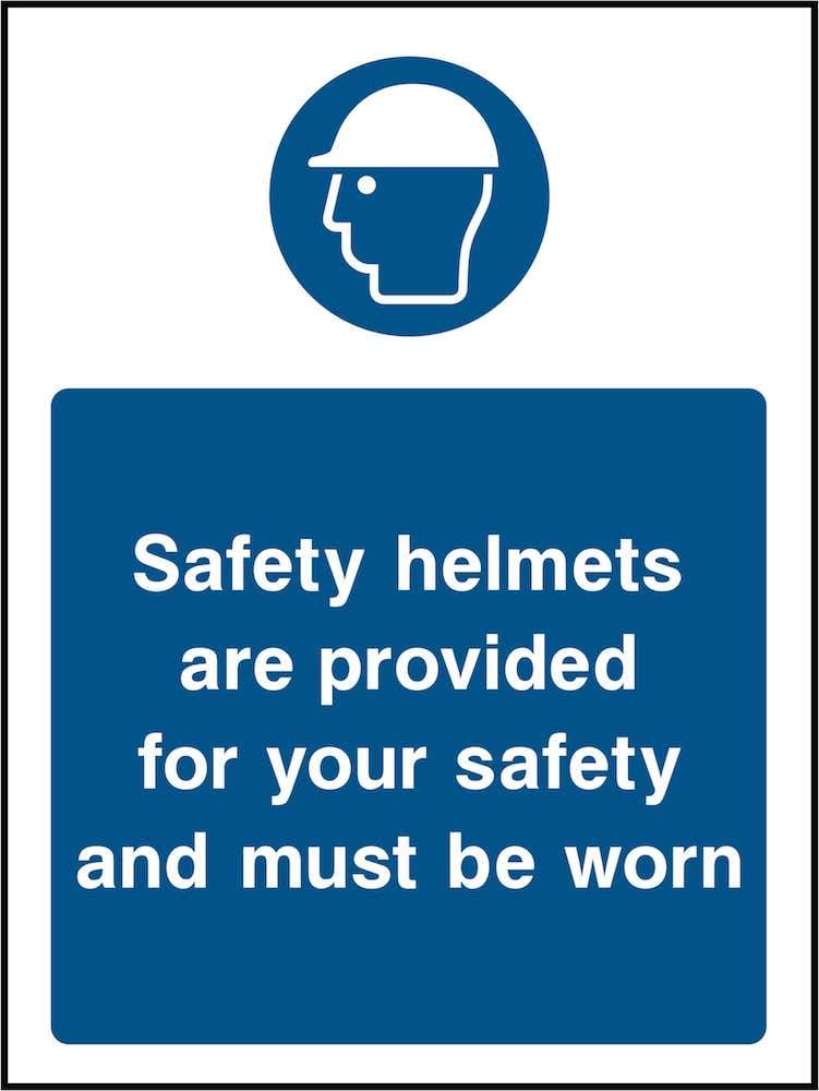 PPE Sign: Safety Helmets Provided (Image) | Elevate Signs
