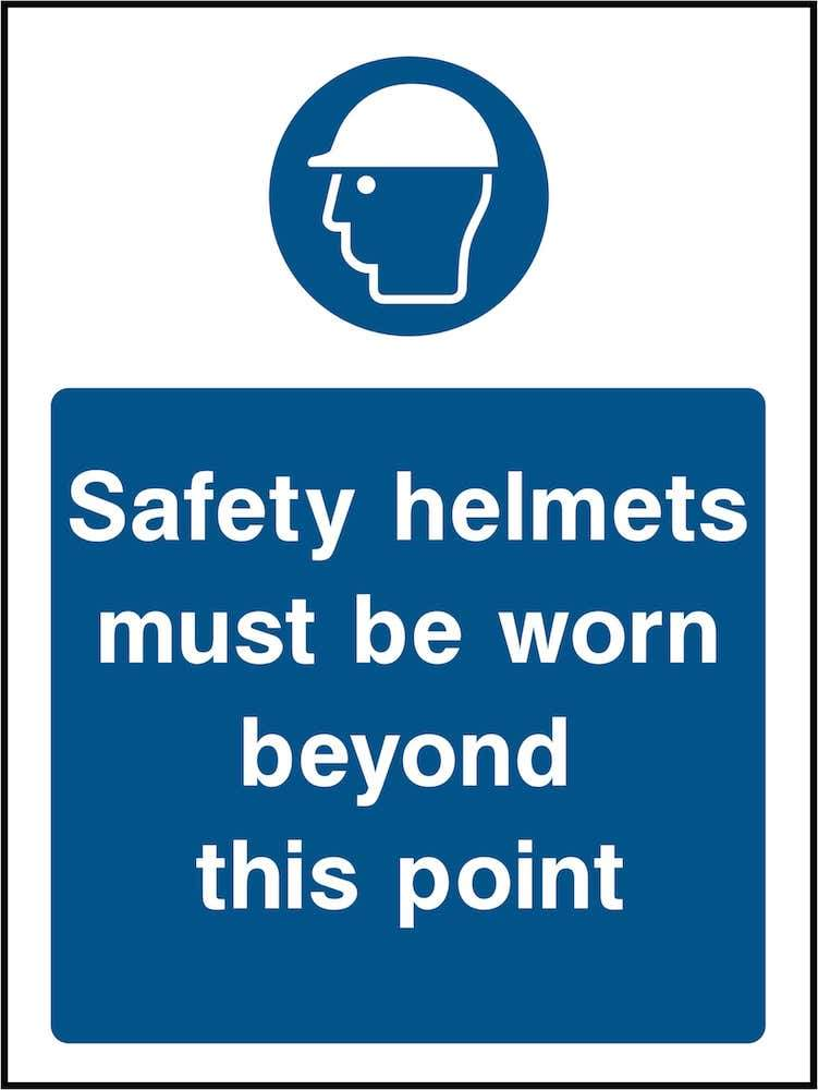 PPE Sign: Safety Helmet Point (Image) | Elevate Signs