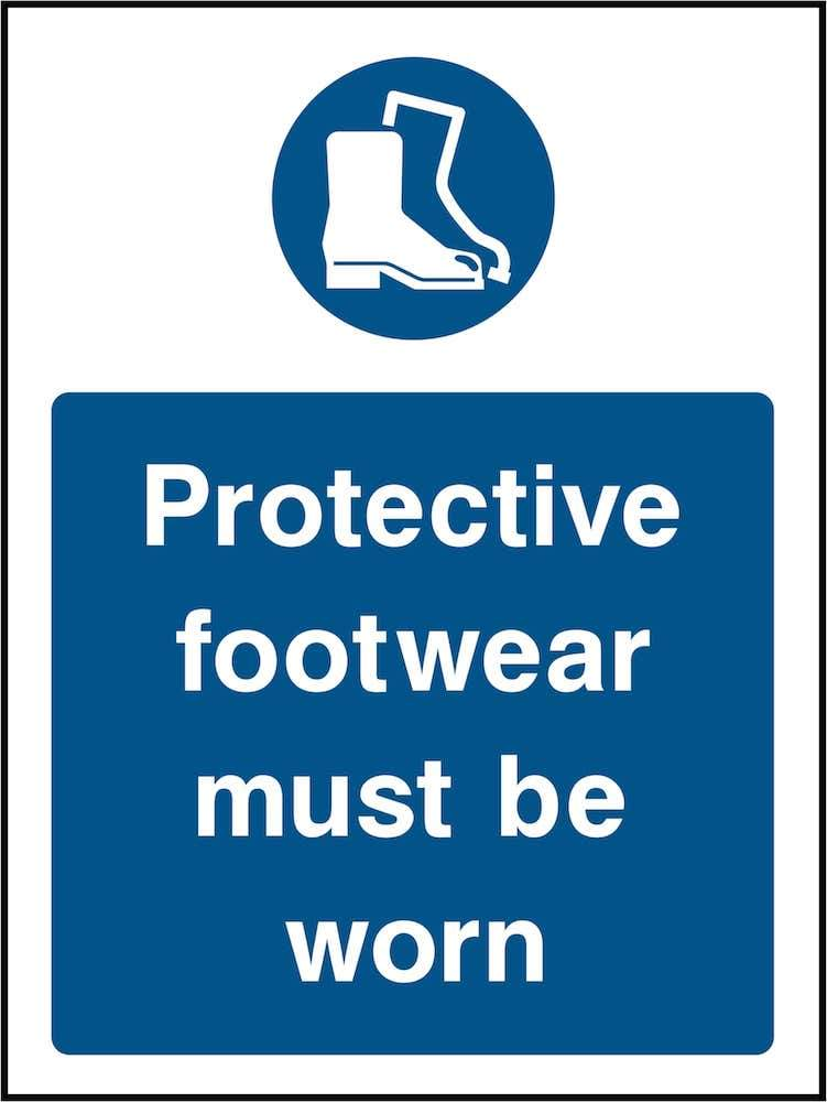 PPE Sign: Wear Protective Footwear (Image) | Elevate Signs