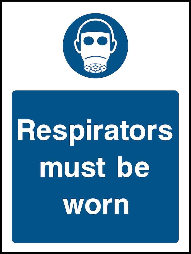 PPE Sign: Wear Respirators (Image) | Elevate Signs