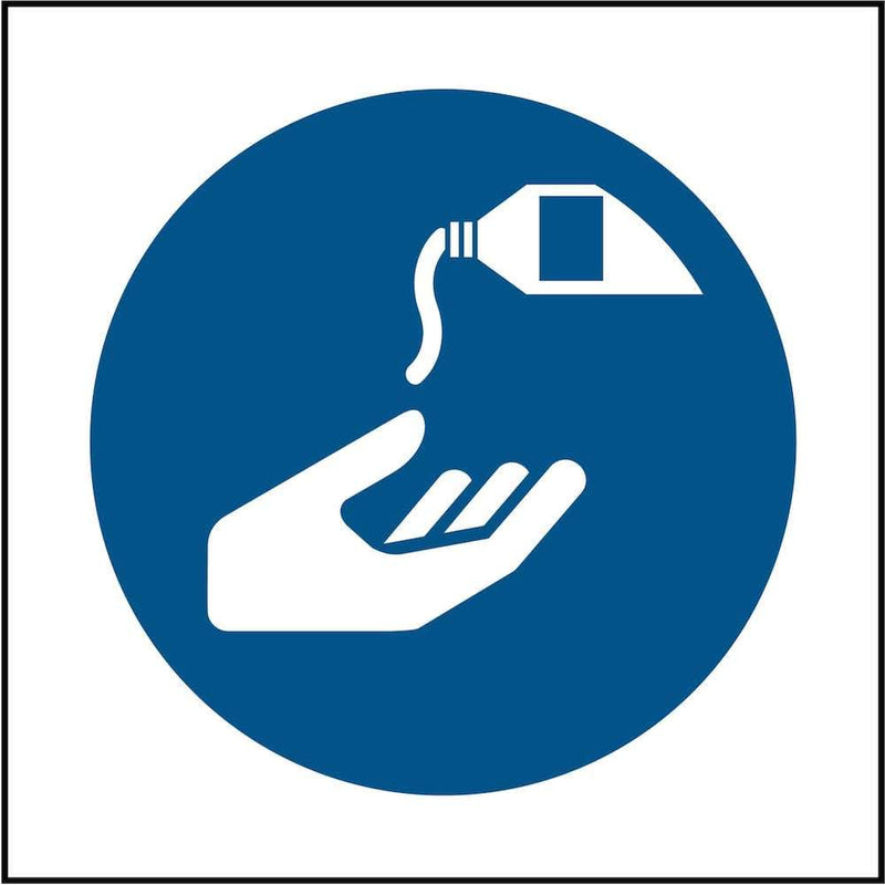 PPE Sign: Use Barrier Cream (Image-Only) | Elevate Signs