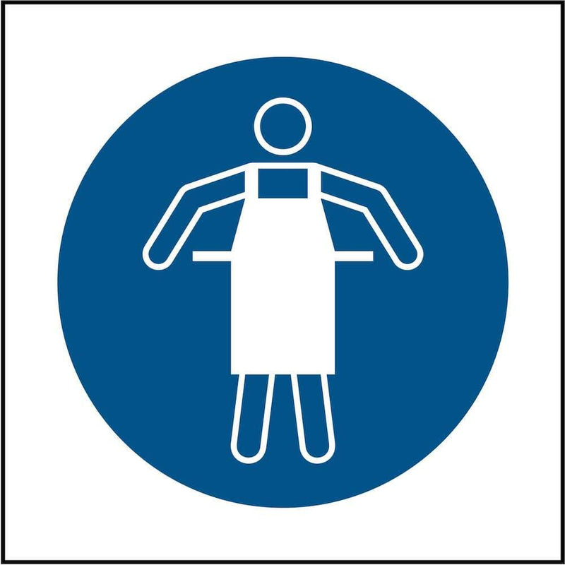 PPE Sign: Use Potective Apron (Image-Only) | Elevate Signs