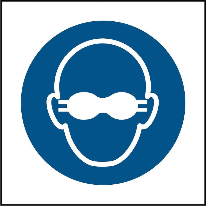 PPE Sign: Wear Opaque Eye Protection (Image-Only) | Elevate Signs