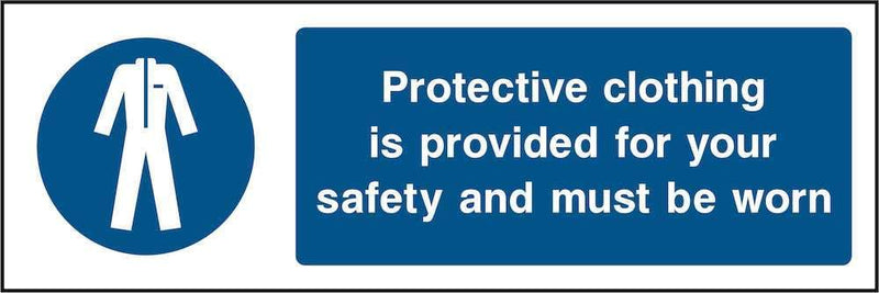 PPE Sign: Protective Clothing Provided | Elevate Signs