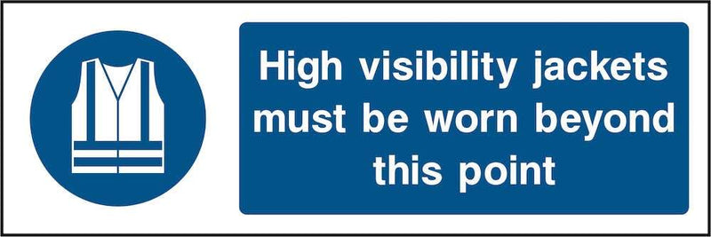 PPE Sign: Wear High-Visibility Jackets Beyond Point | Elevate Signs