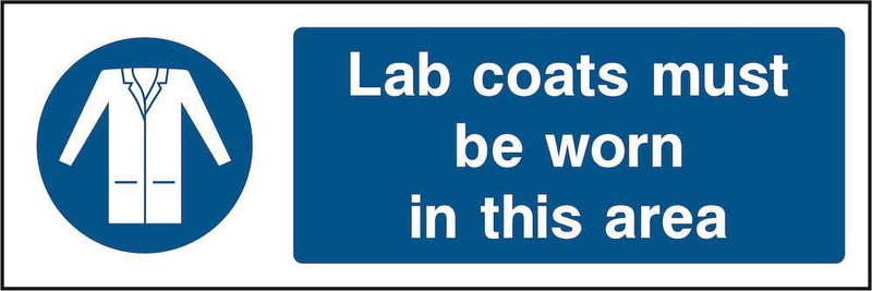 PPE Sign: Wear Lab Coats In Area | Elevate Signs