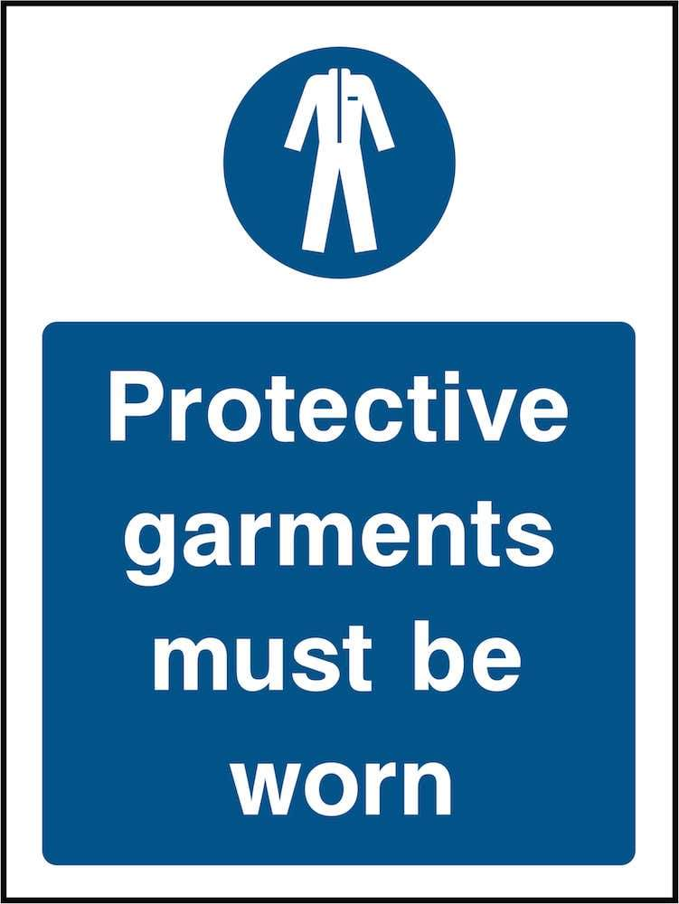 PPE Sign: Must Wear Protective Garments | Elevate Signs