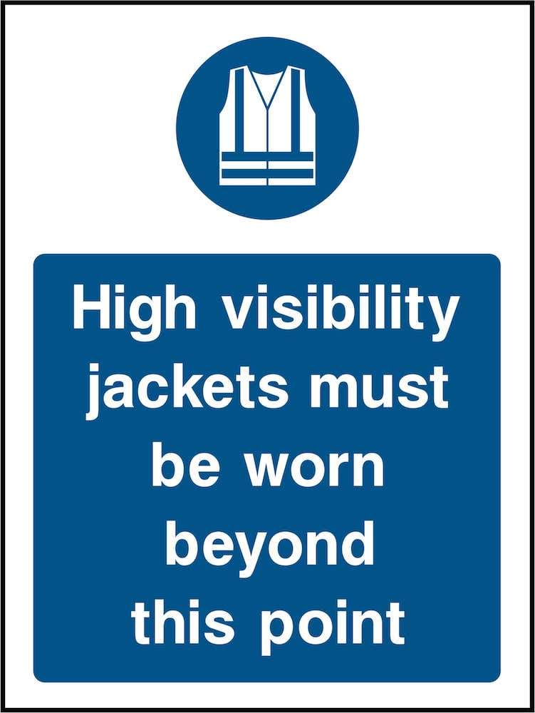 PPE Sign: Must Wear High Visibility Jackets | Elevate Signs