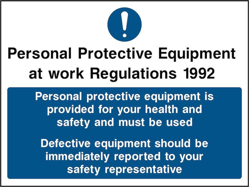 Report Defective PPE Sign | Elevate Signs