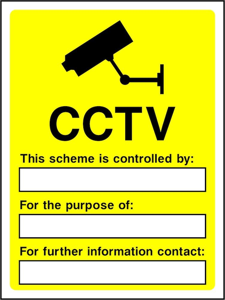 CCTV Sign: With Editable Sections