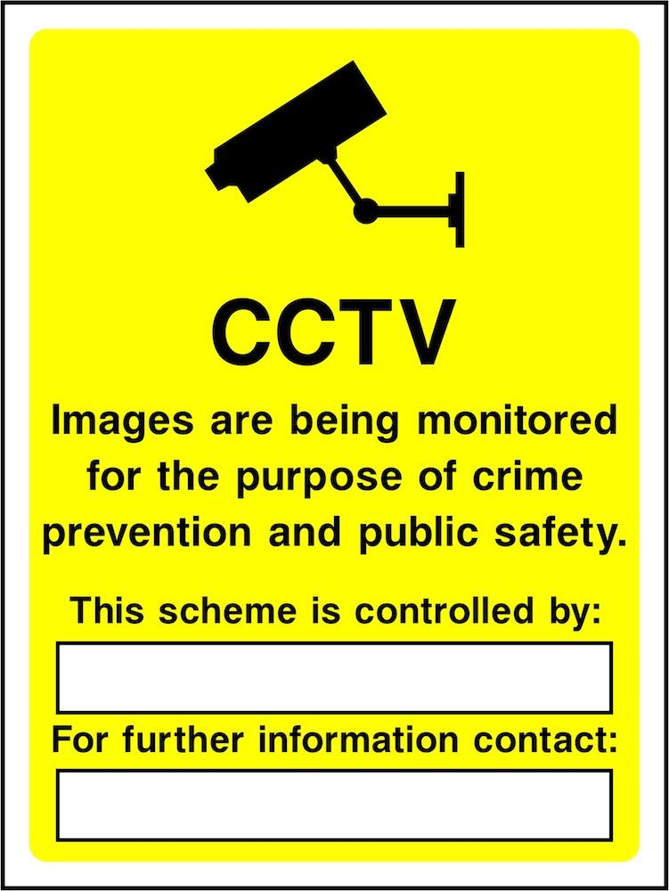 CCTV Sign: Images Being Monitored