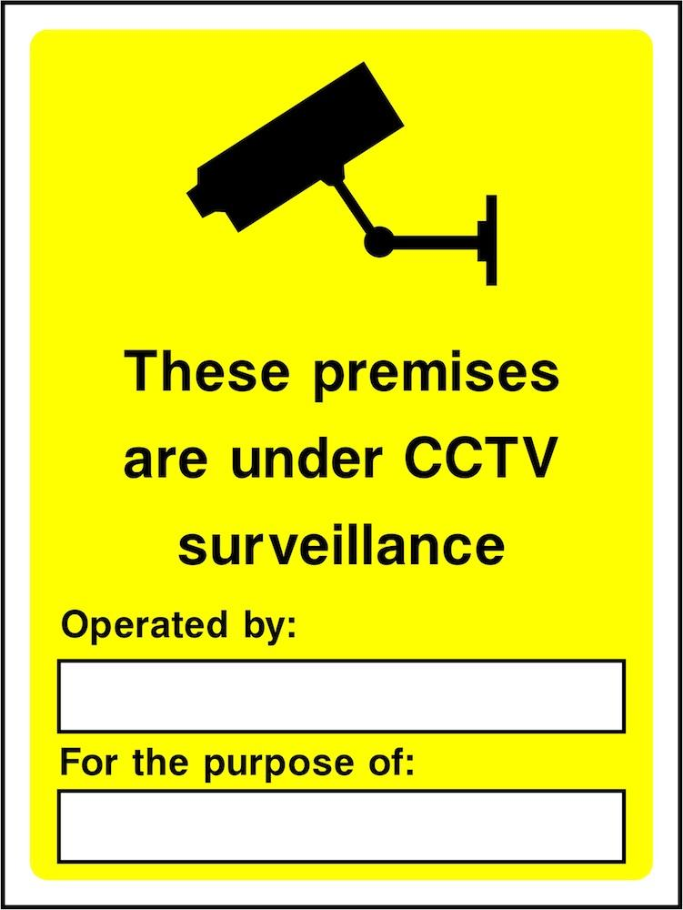 CCTV Sign: Premises Under CCTV Surveillance