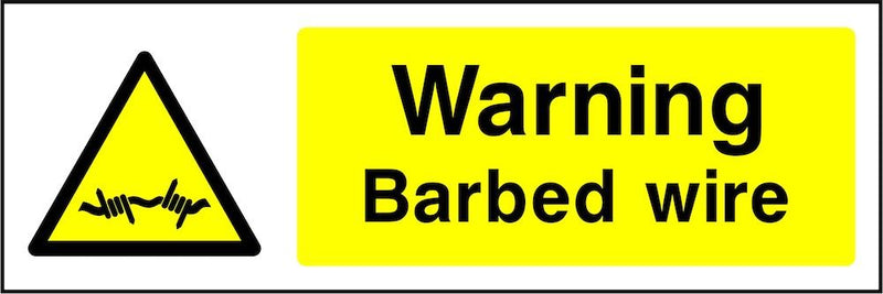 Warning Sign: Barbed Wire