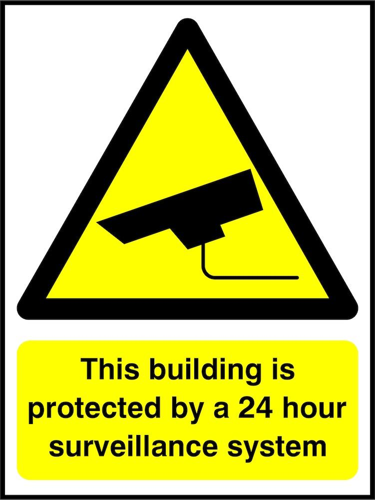 CCTV Sign: Building Protected