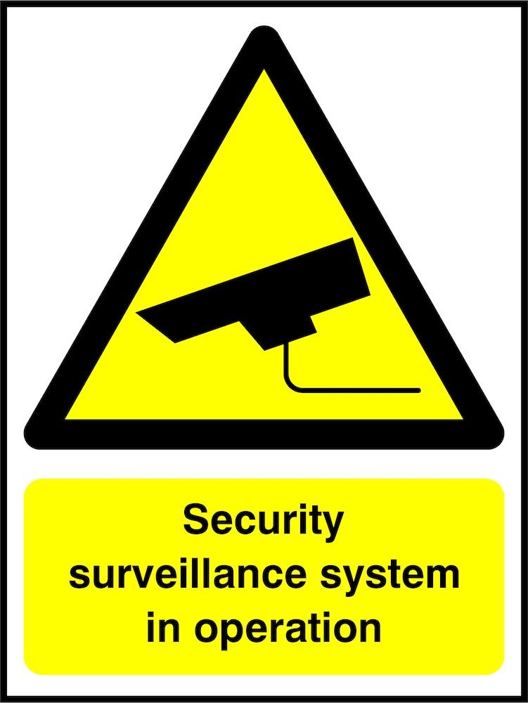 CCTV Sign: Security Surveillance System
