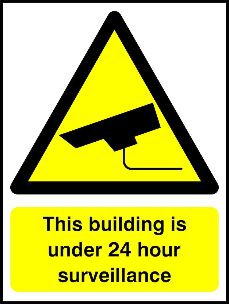 CCTV Sign: Building Under Surveillance