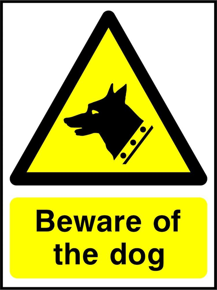 Security Sign: Beware Of The Dog