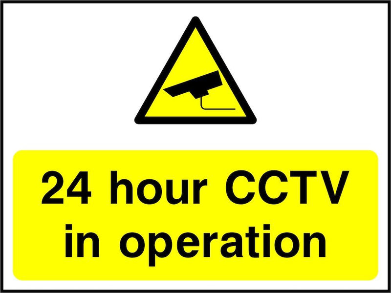 CCTV Sign: 24 Hour CCTV In Operation