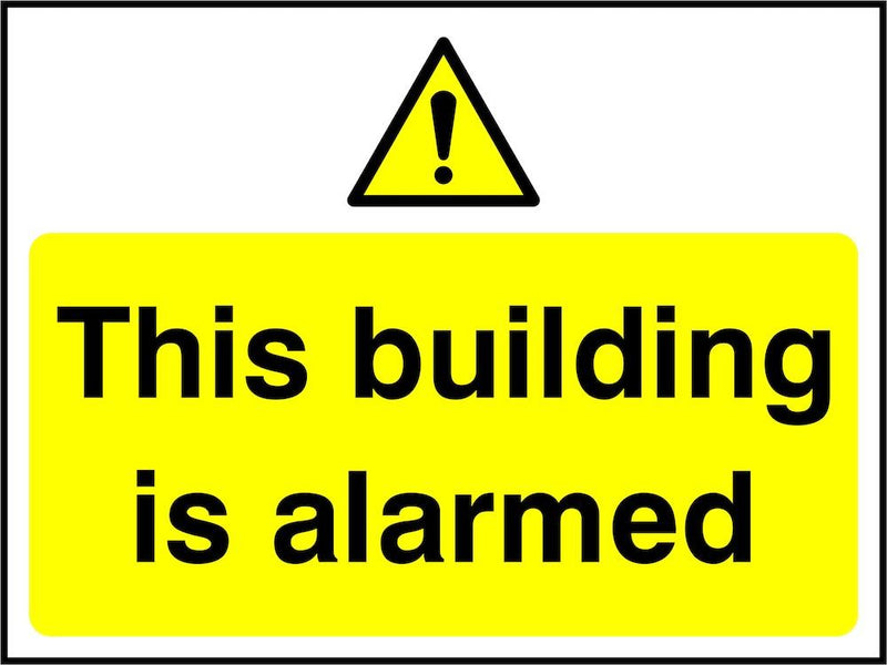 Security Sign: This Building Is Alarmed