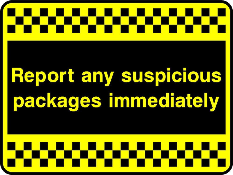 Security Sign: Report Suspicious Packages