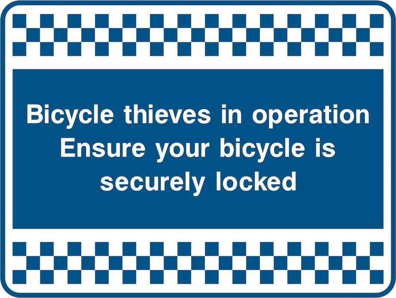 Security Sign: Bicycle Thieves In Operation