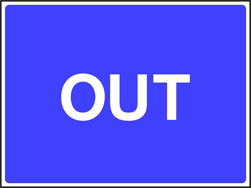Site Traffic Sign: Out