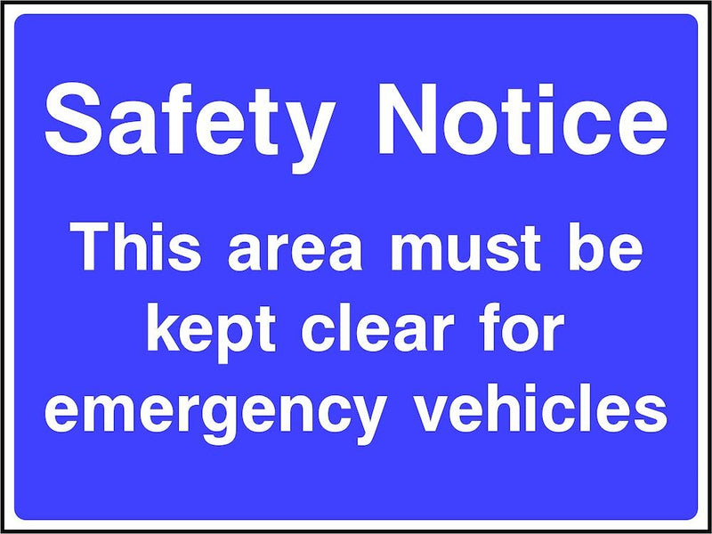 Site Traffic Sign: Keep Area Clear For Emergency Vehicles
