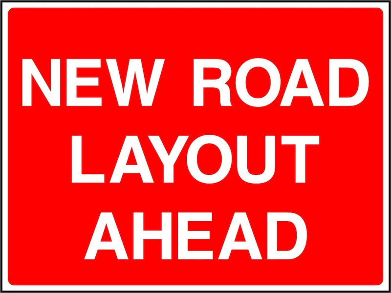 Traffic Sign: New Road Layout Ahead