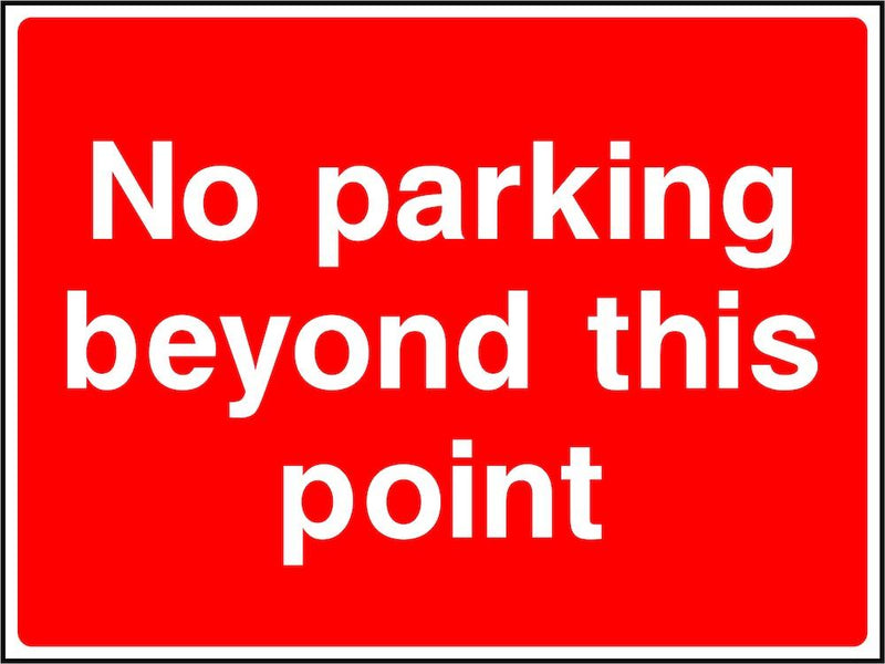 Parking Sign: No Parking Beyond This Point