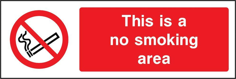 No Smoking Area Sign | Elevate Signs