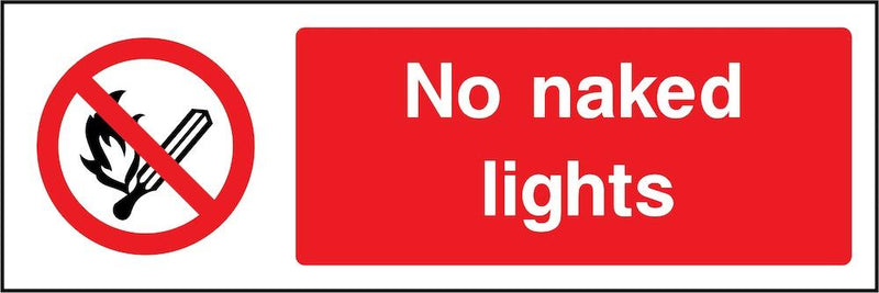 No Naked Lights Sign | Elevate Signs