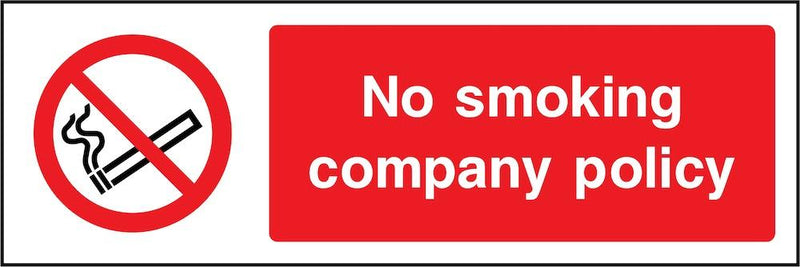 No Smoking Company Policy Sign | Elevate Signs