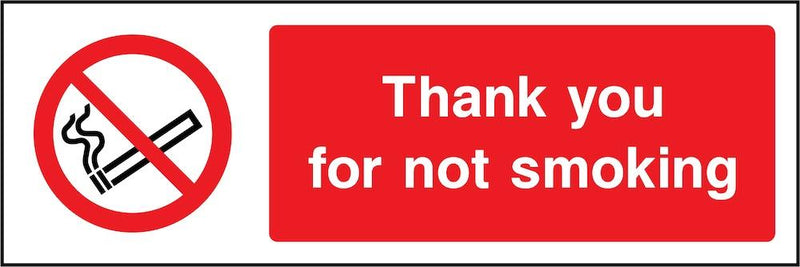 Thank You for Not Smoking Sign | Elevate Signs