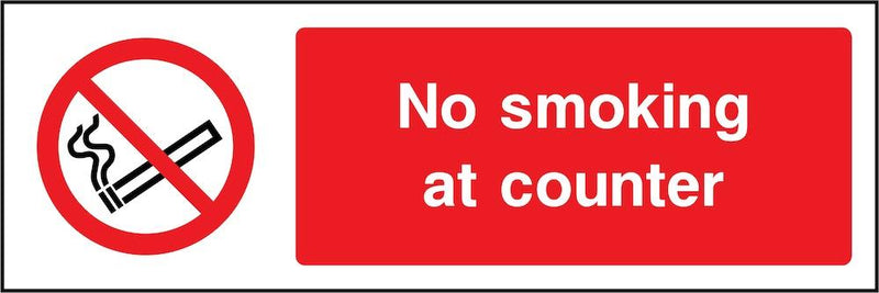 No Smoking At Counter Sign | Elevate Signs