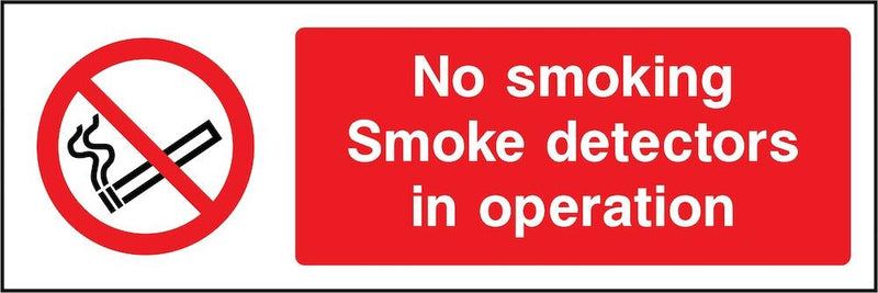 No Smoking: Smoke Detectors In Operation Sign | Elevate Signs