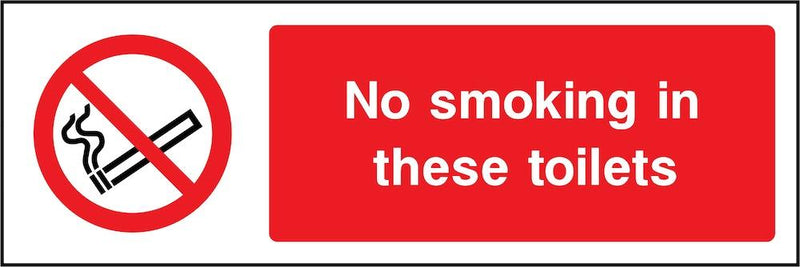 No Smoking In Toilets Sign | Elevate Signs