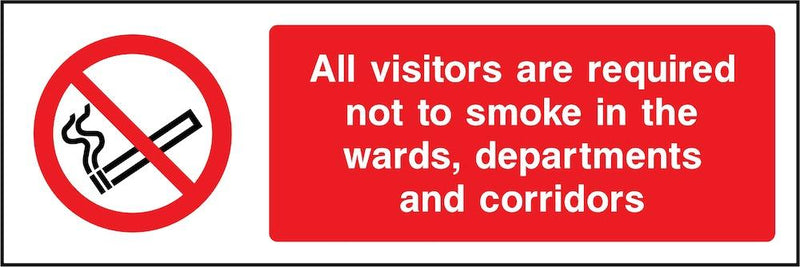 Visitors Required Not To Smoke Sign | Elevate Signs