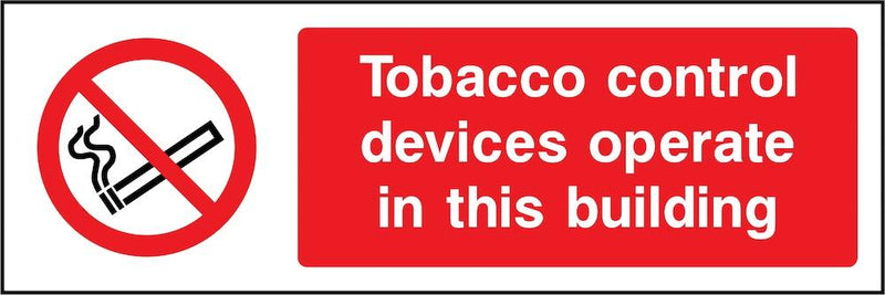 Tobacco Control Devices Operating Sign | Elevate Signs