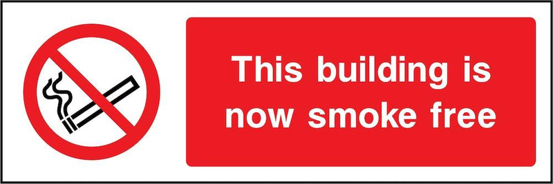 Building Is Now Smoke Free Sign | Elevate Signs