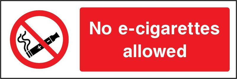 No E-Cigarettes Allowed Sign | Elevate Signs