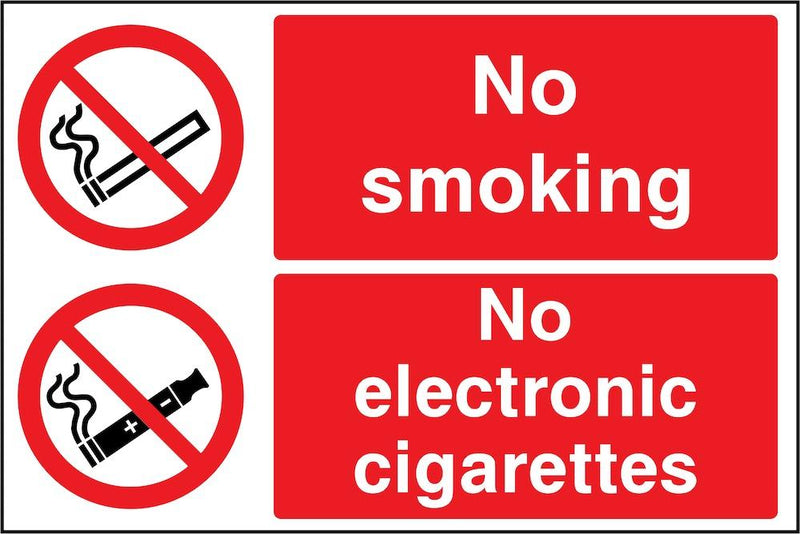 No Smoking, No Electronic Cigarettes Sign | Elevate Signs