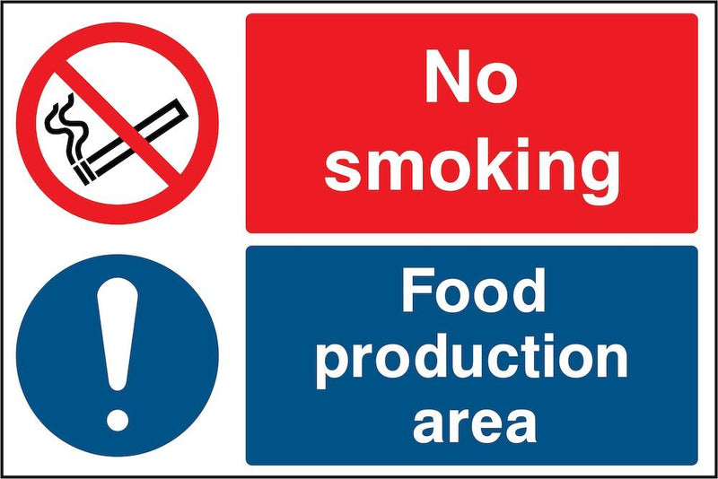 No Smoking: Food Production Area Sign | Elevate Signs