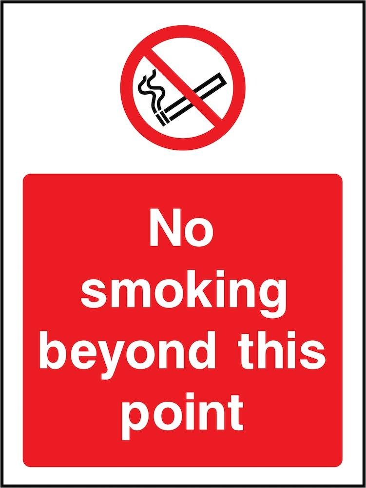 No Smoking Beyond This Point Sign | Elevate Signs