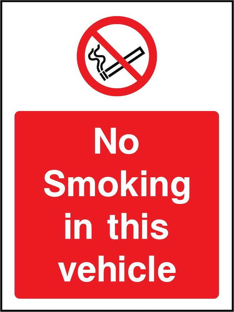 No Smoking In This Vehicle Sign | Elevate Signs