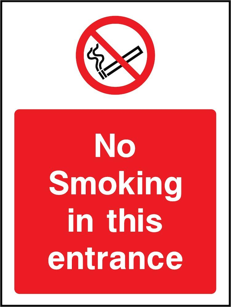 No Smoking In Entrance Sign | Elevate Signs