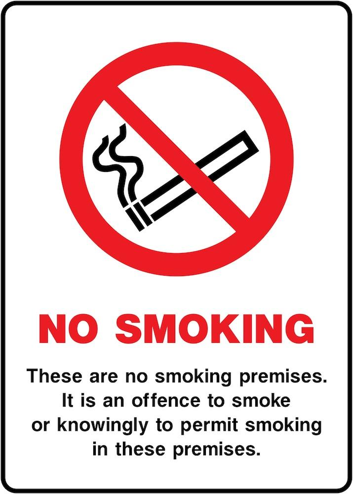 No Smoking In Premises Sign | Elevate Signs